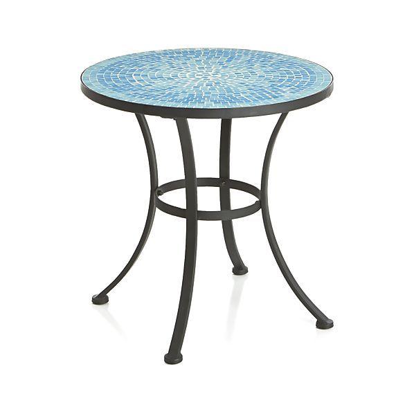 Cobalt Blue Mosaic Tile Round Coffee Table Tiled Coffee Table Mosaic Coffee Table Coffee Table