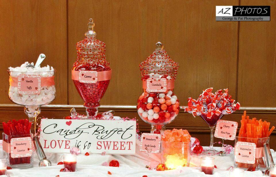 Candy buffet sign wedding reception