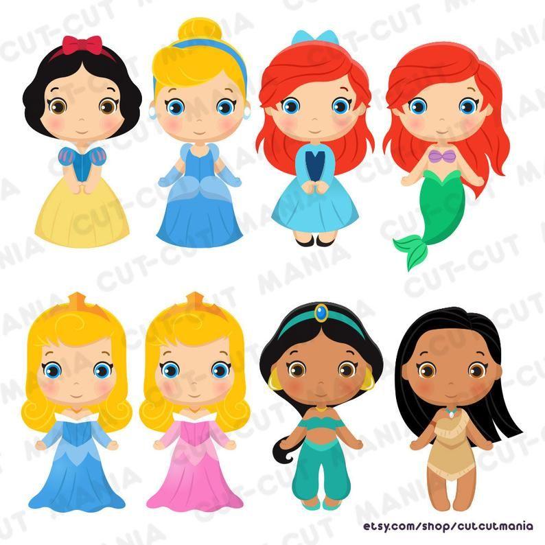 Disney Princess Png Cliparts Cute Princesses Clip Art Disney Etsy Disney Princess Png Clip Art Disney Princess