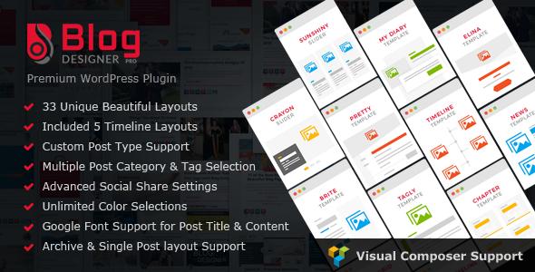 Blog Designer PRO for WordPress v1.5.1