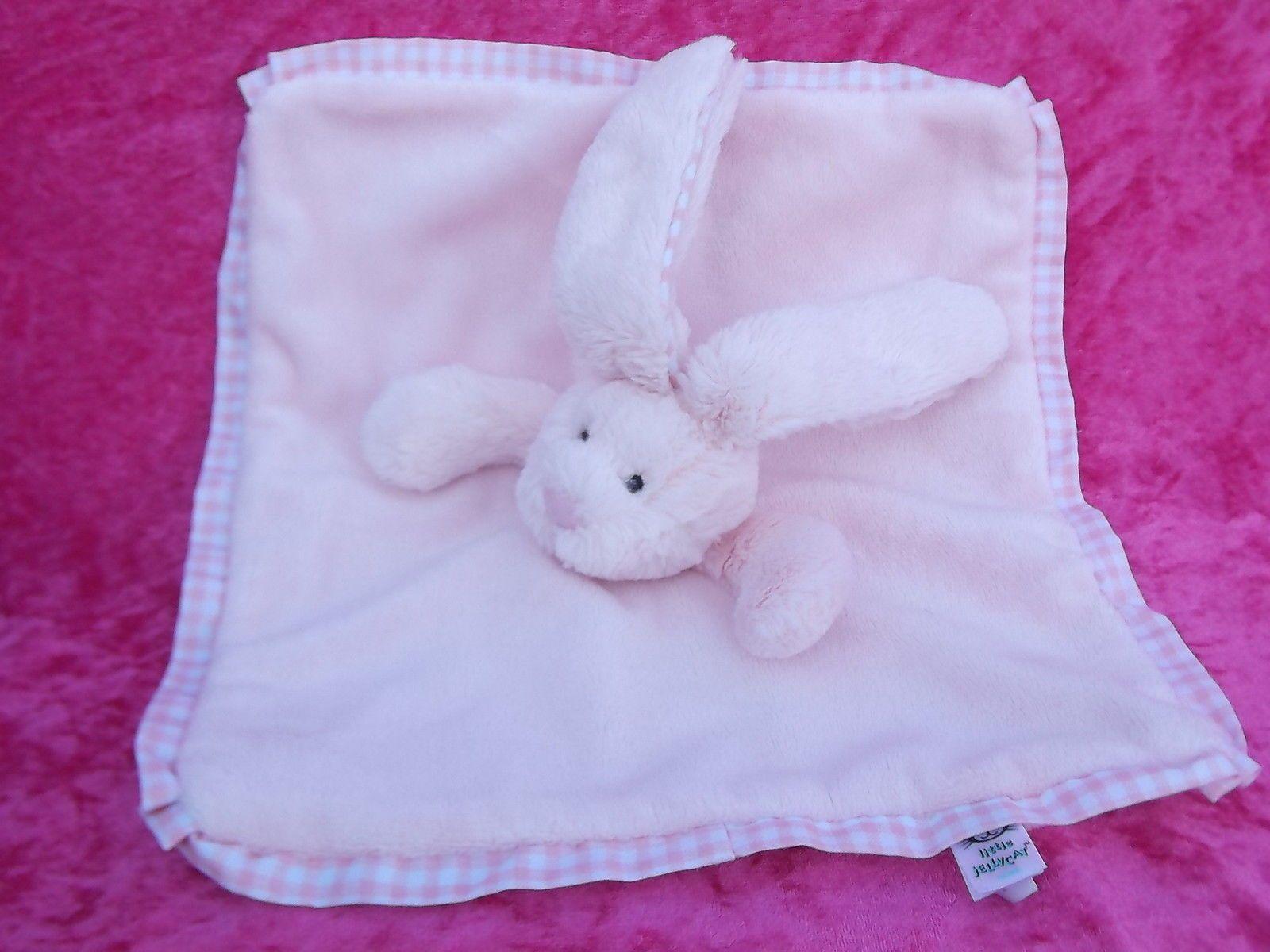 Jelly Kitten Pink Bunny Rabbit Comforter Blankie Doudou Soft Toy Jellycat Uk Picclick Com