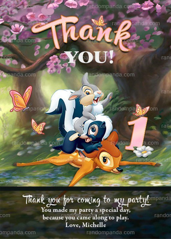 Image result for Thank you bambi