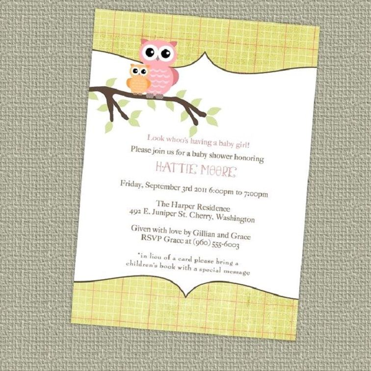 Custom Baby Shower Invitations Walmart Party Invitation Card