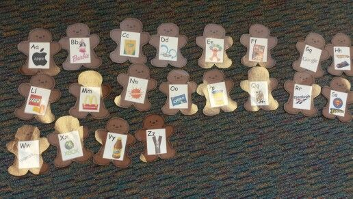 Alphabetical order gingerbread men