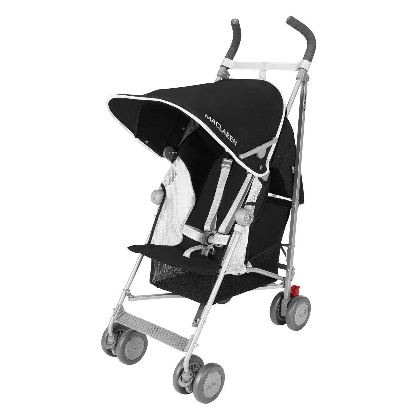 Maclaren Globetrotter Lightweight Stroller Black/White