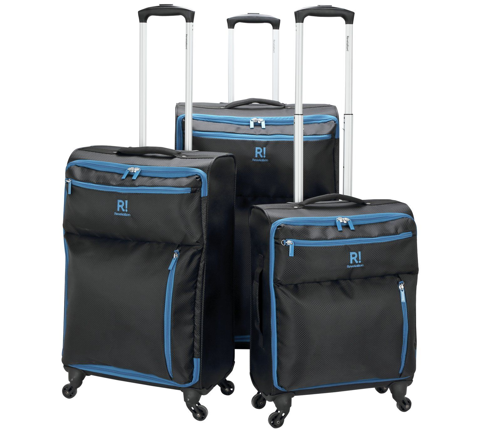 Revelation Weightless Medium 4 Wheel Soft Suitcase Black