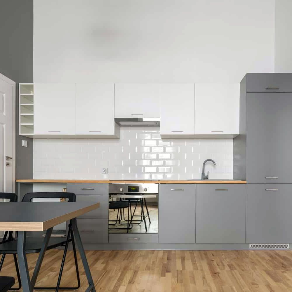 26 Gorgeous Scandinavian Kitchen With Grey Color Ideas In 2020 Scandinavian Kitchen Kitchen Design Color Grey Kitchens