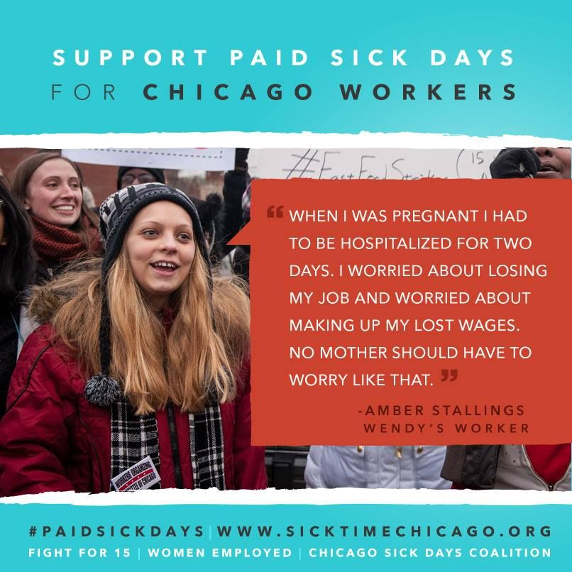 It's time for #paidsickdays for all!