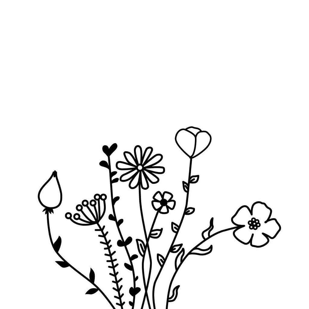 Bullet Journal Drawing Ideas Flower Drawings Floral Drawings Unic0rnblack Coloring Bullet Journal Drawings Bullet Journal Inspo