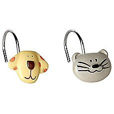 Image Of Raining Cats And Dogs Shower Curtain Hooks Set Of 12