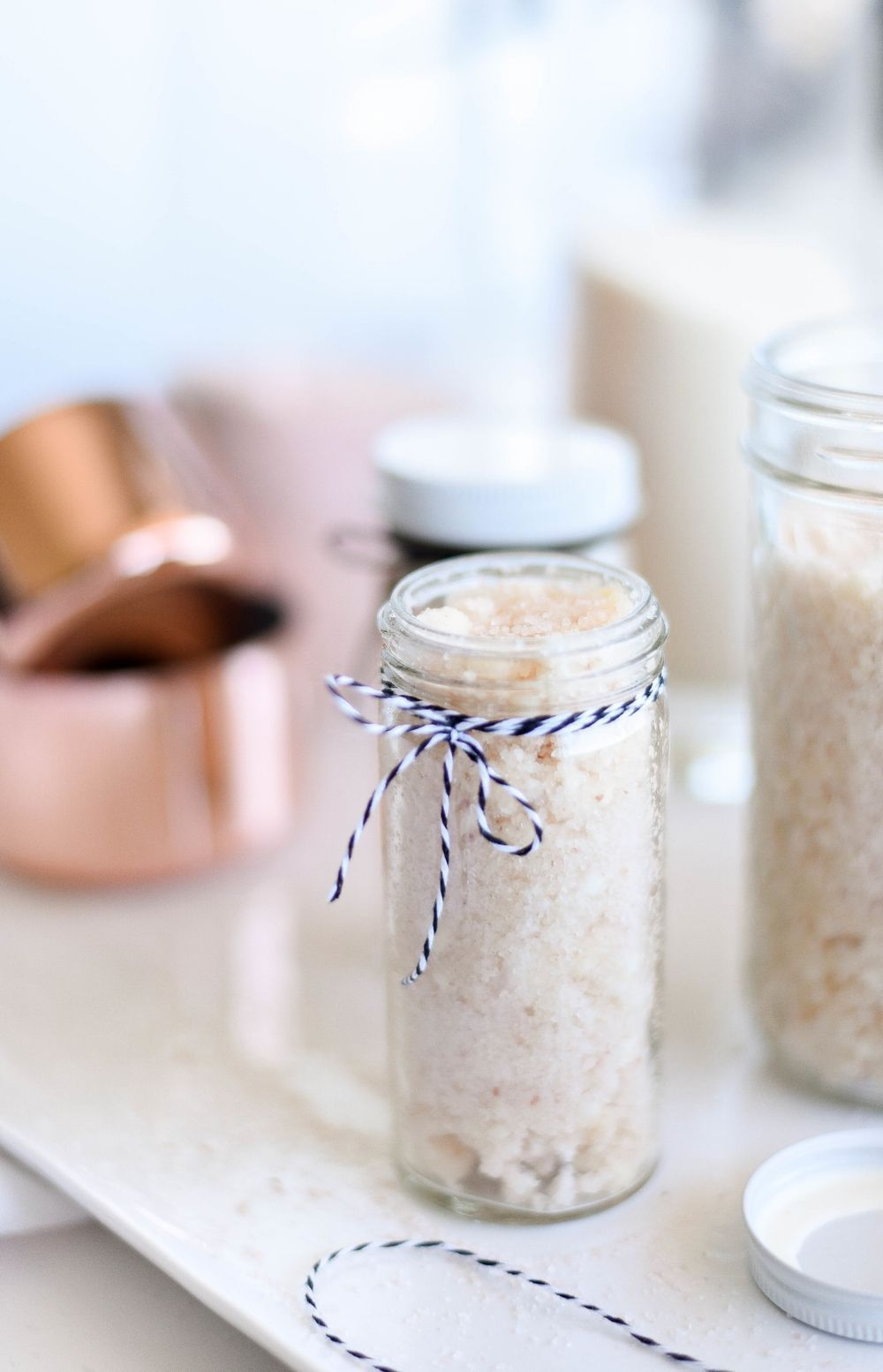 DIY Coconut Butter Body Scrub with Essentail Oils (With