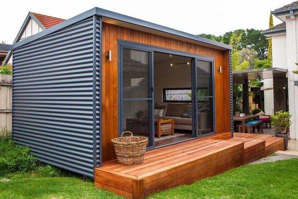 Garden shed ideas backyard retreat modern shed interior for Garden shed interior designs