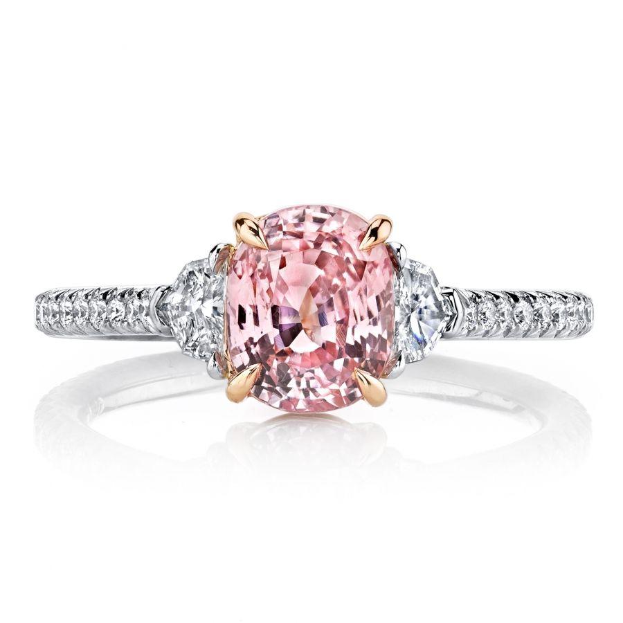 Omi prive padparadscha sapphire and diamond ring jewelry