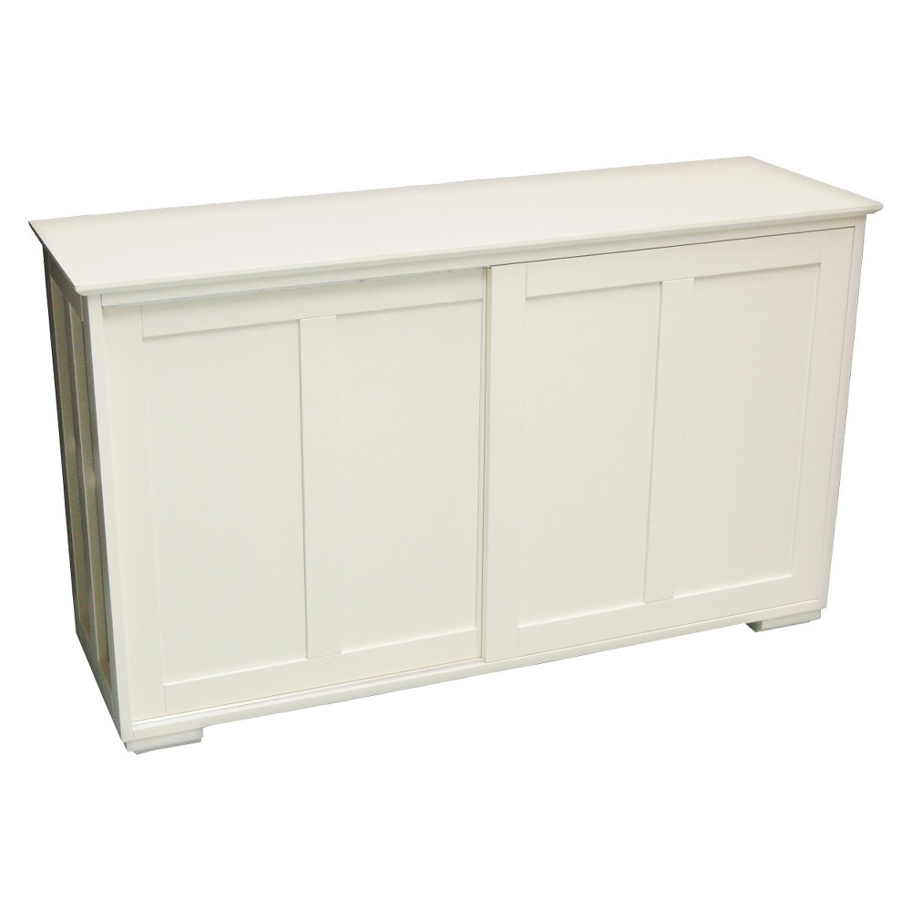 Tms Salon De Provence Pacific Stackable Sliding Wooden Doors Cabinet Off White Tms