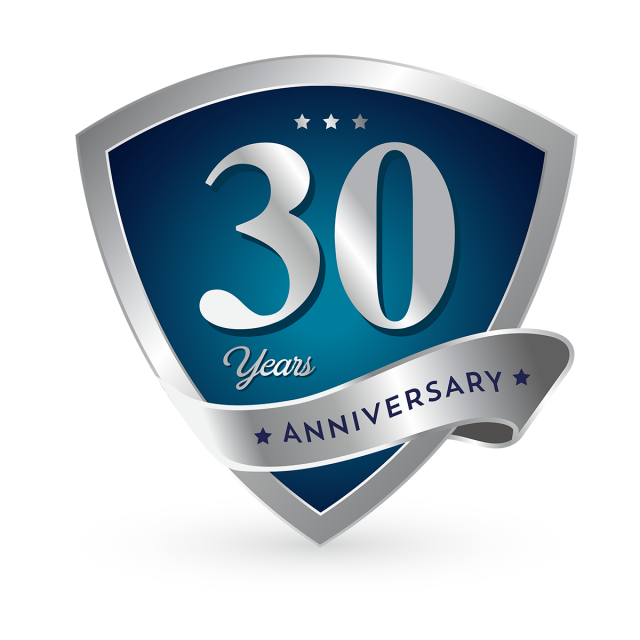30th Anniversary Badge Logo Icon, Anniversary, 30