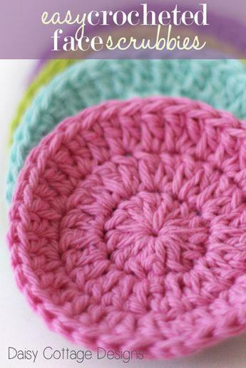 Free Pattern: Cotton Face Scrubbies