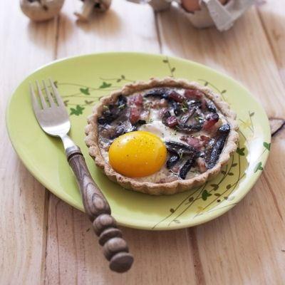 Tartelettes champignons, lardons et oeuf : 40 recettes avec des lardons…