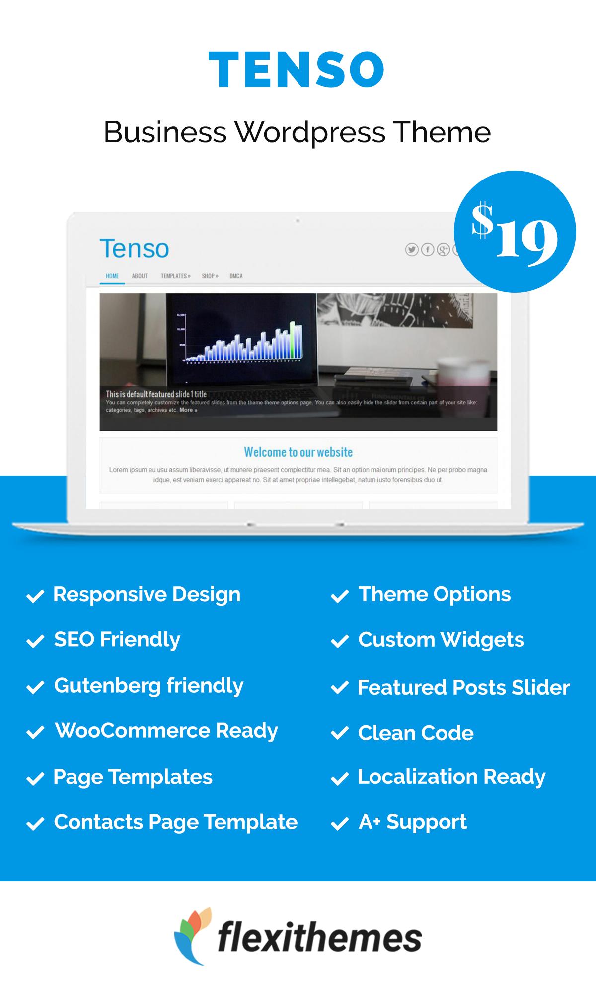 Tenso Portfolio Site Page Template Wordpress Template
