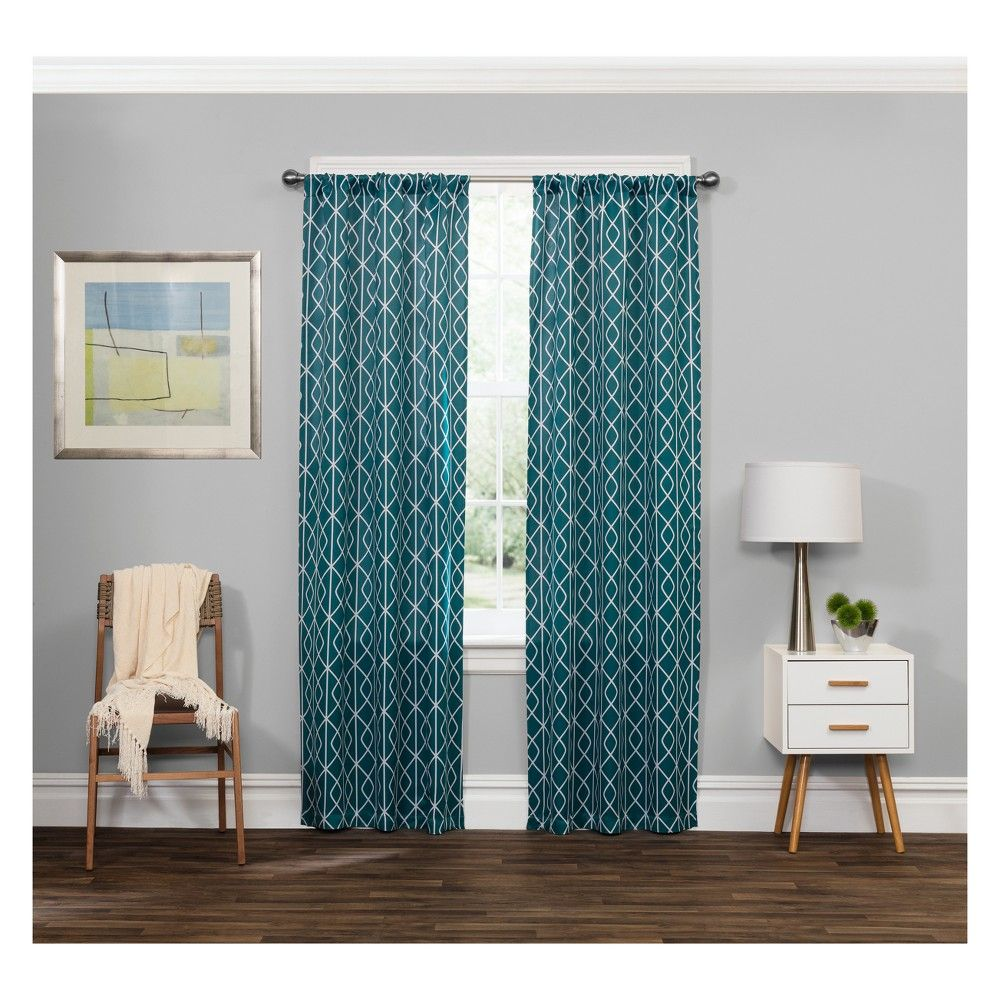 Carroll thermaweave blackout curtain panels peacock eclipse in