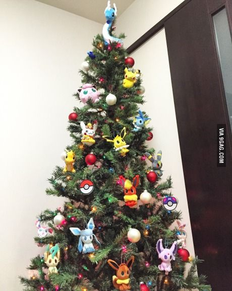 Me and my hubby's very first Christmas tree is Pokemon-themed!