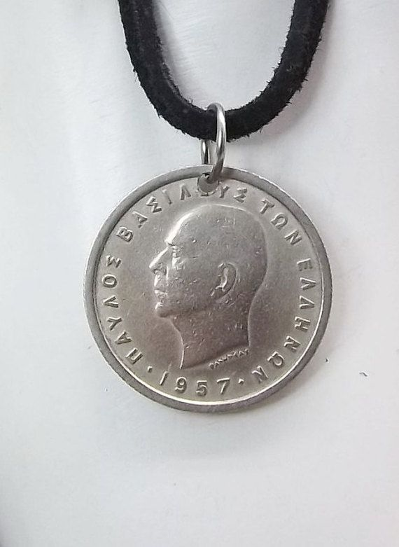 Greek Coin Necklace 1 Drachma Coin Pendant By Autumnwindsjewelry Coin Necklace Coin Pendant