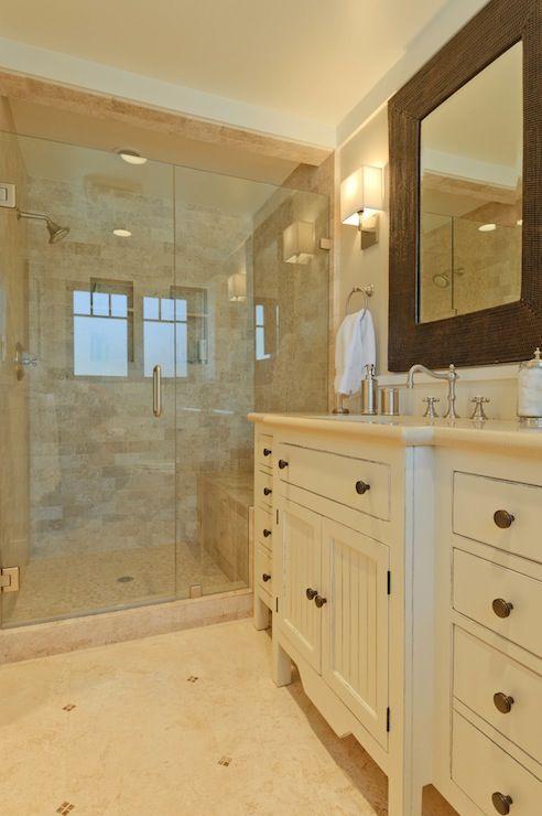 Bathroom Paint Colors Travertine Tile beautiful bathroom with beige walls paint color, trim painted