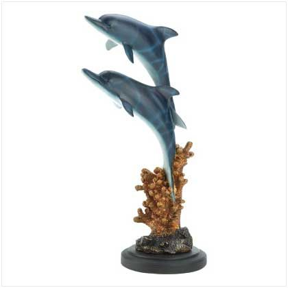 #12141 Leaping Dolphins Statue