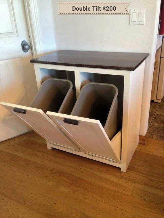 Kitchen Trash Can Cabinet Door Hanging Garbage Bin Rubbish ...