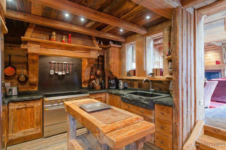 Décoration intérieur chalet montagne : 50 idées inspirantes | Kitchens