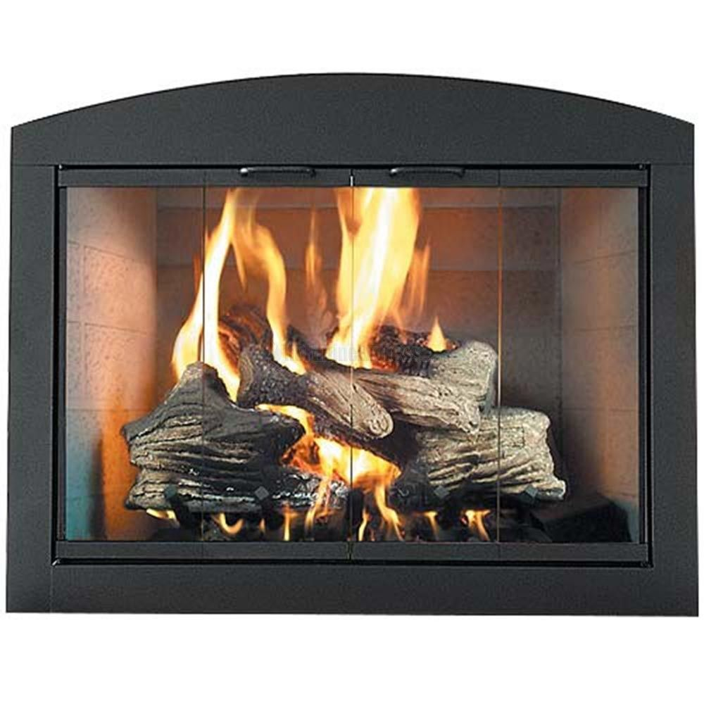 This Fireplace Door Can Be Closed During Burning As Long As The Fire