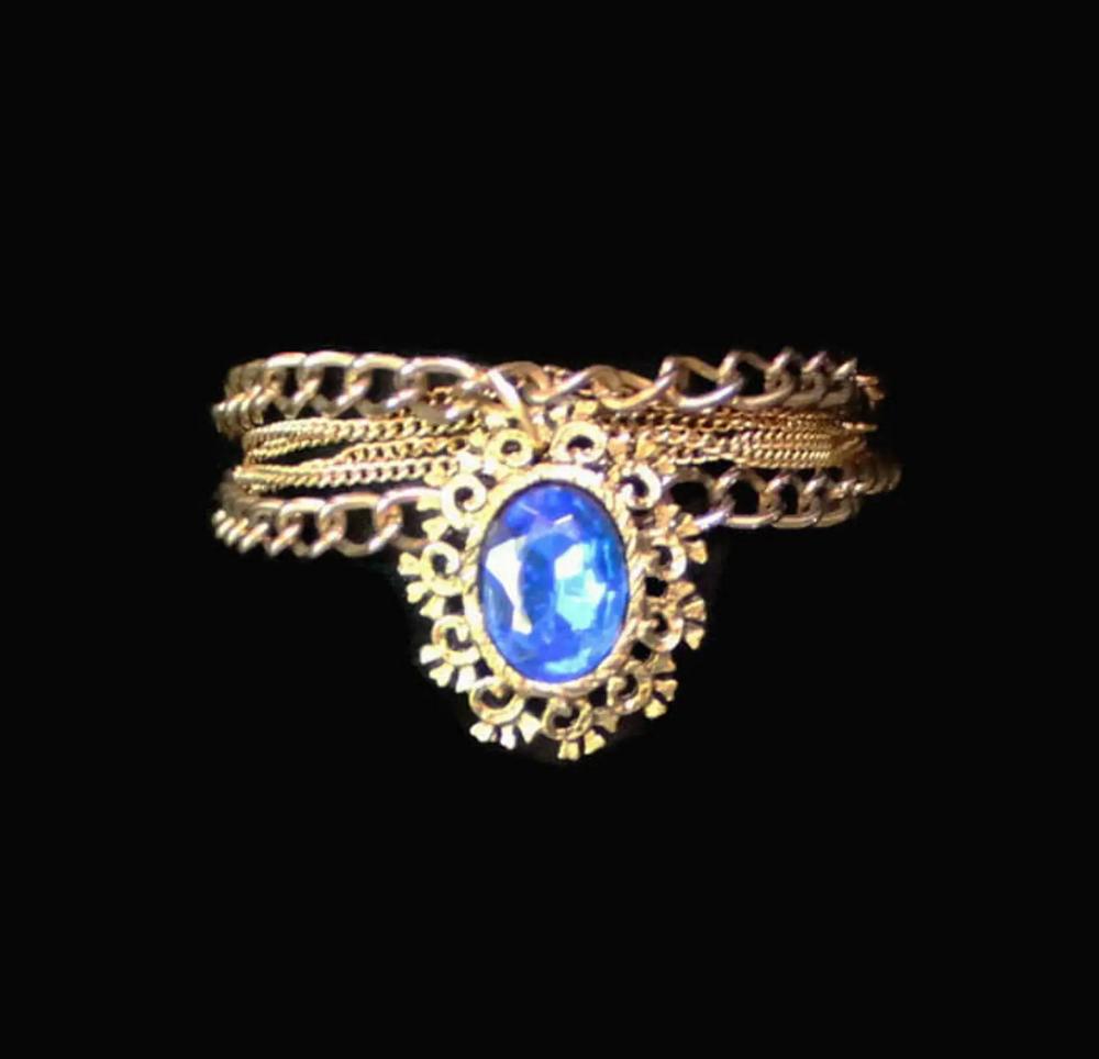 Multi Strand Chain Victorian Style Bracelet Gothic Jewelry   Etsy
