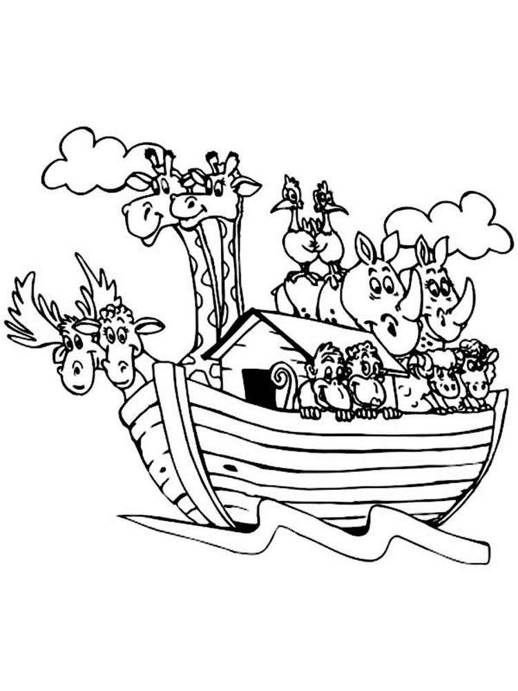 Preschool Coloring Pages Of Noahs Ark