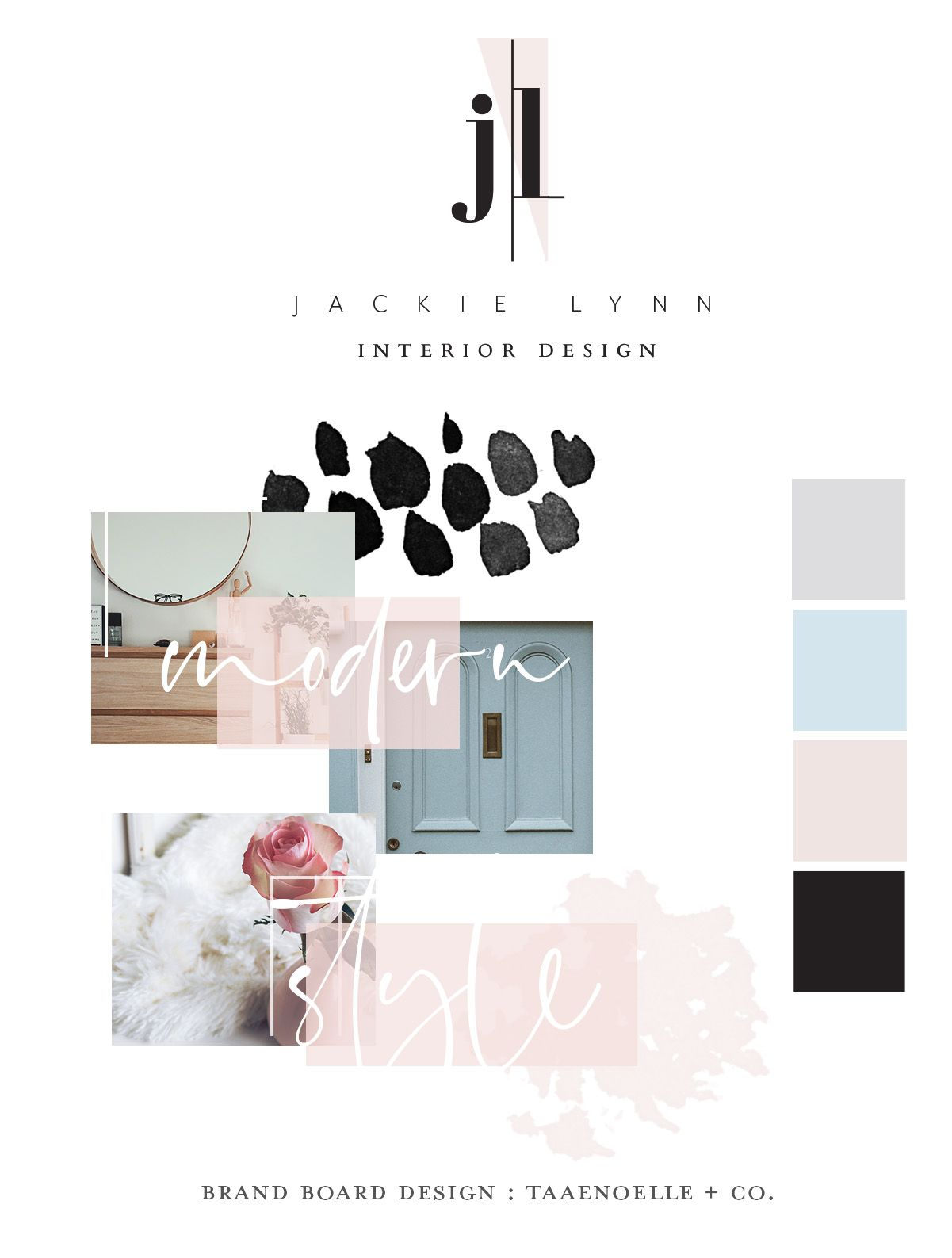 Gorgeous Brand Design With A Modern Interior Designer In Mind Created To Exude All Things Feminine A Interior Designer Logo Brand Board Design Branding Design