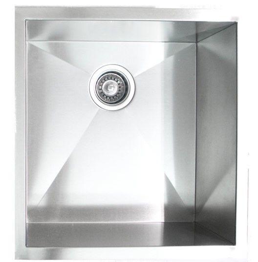 undermount zero radius single bowl