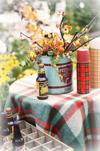Fall In The Garden Mesa Equinoccio De Otoño Hojas De