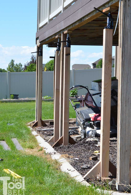 Fix The Sagging Deck Her Tool Belt Building A Deck Deck