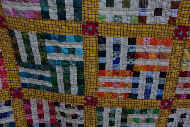 Checkered Past 72 x 84 Hand quilted It's finished! I was inspired by a vintage quilt I saw on Ebay that was calle...