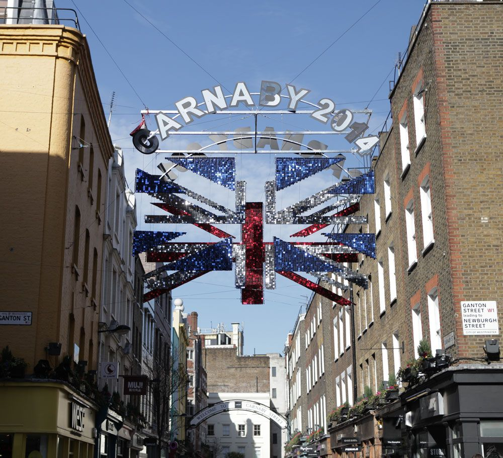 De-constructed Union Jack Flag, Carnaby Street. #Carnaby #Art