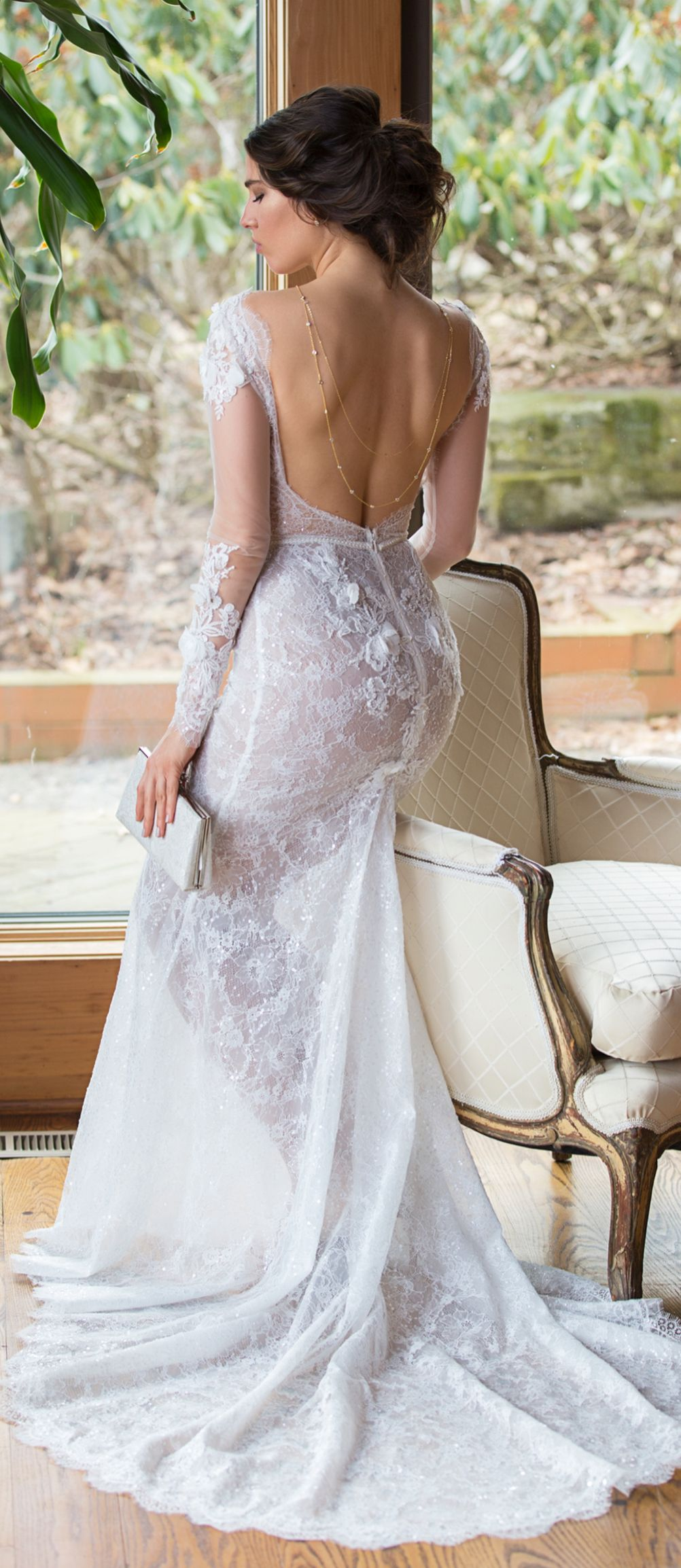 Dakota u crystal back necklace backdrops backless wedding and