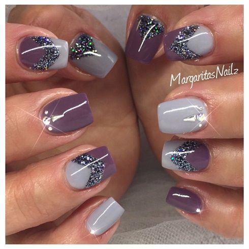 40+ Simple Short Acrylic Square Nails For Summer 2017 #17 - 40+ Simple Short Acrylic Square Nails For Summer 2017 #17 Short