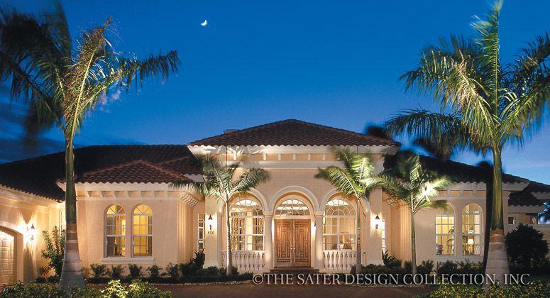 Grimaldi Court-Mediterranean House Plan- Sater Design ...