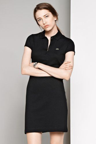 6509280a Lacoste Short Sleeve Stretch Pique Classic Polo Dress | Fashion ...