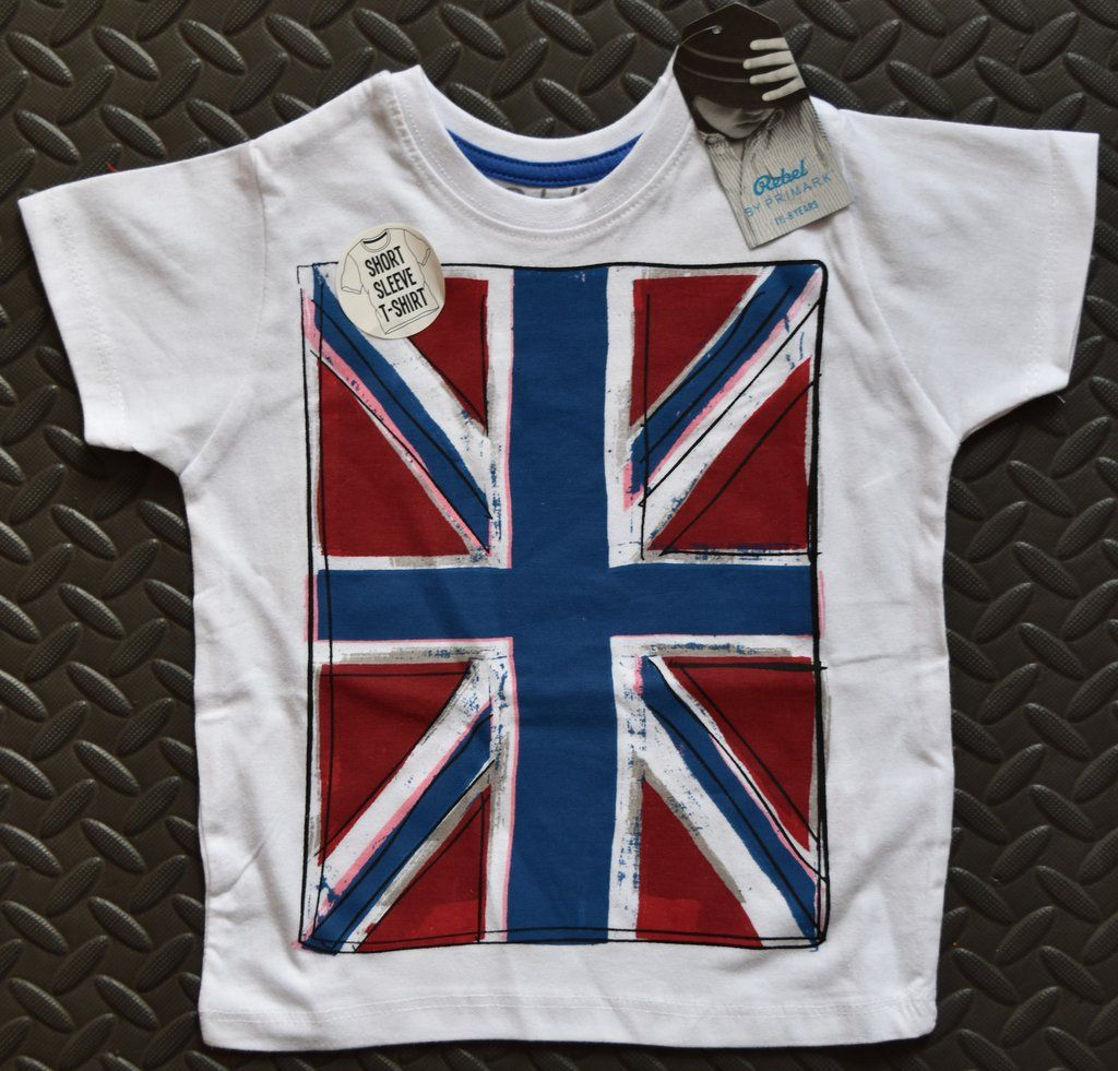 Kids Childrens London England Union Jack T-shirt 3-12 Years