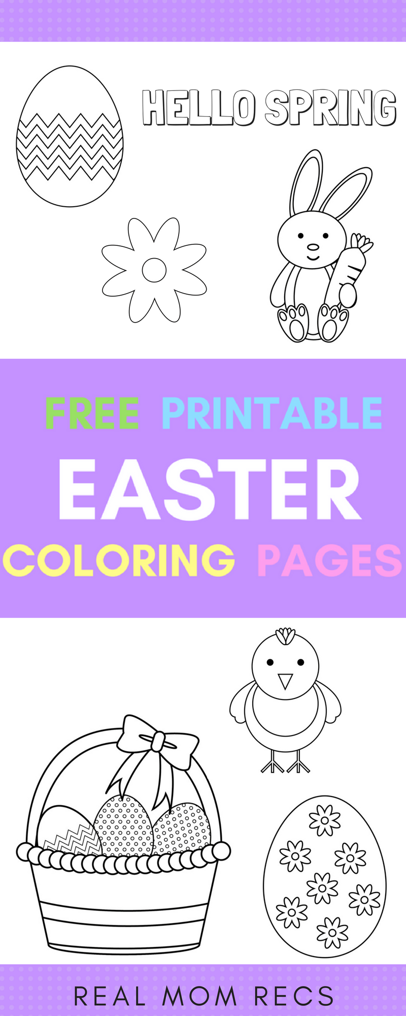 4 Free Printable Easter Coloring Pages Just Download And Print Cute Easy Designs
