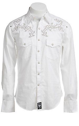 26dc6ad9 Wrangler Mens Rock 47 Western Shirt | Men's Apparel & Jeans | Shirts ...
