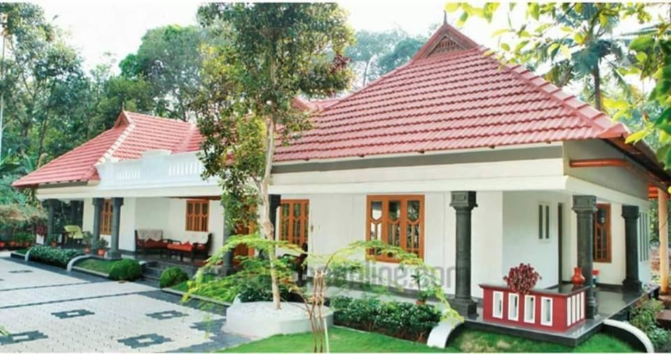1500 Square Feet 3 Bedroom Single Floor Kerala Traditional Style Home Design And Plan Farmhouse Style House Kerala House Design House Designs Exterior