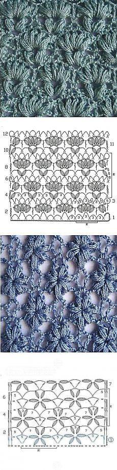 Вязание | Häkelmuster, Handarbeiten und Muster