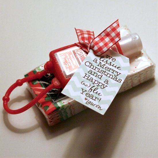 Remember Those Tissues And Hand Sanitizers Diy Christmas Gifts
