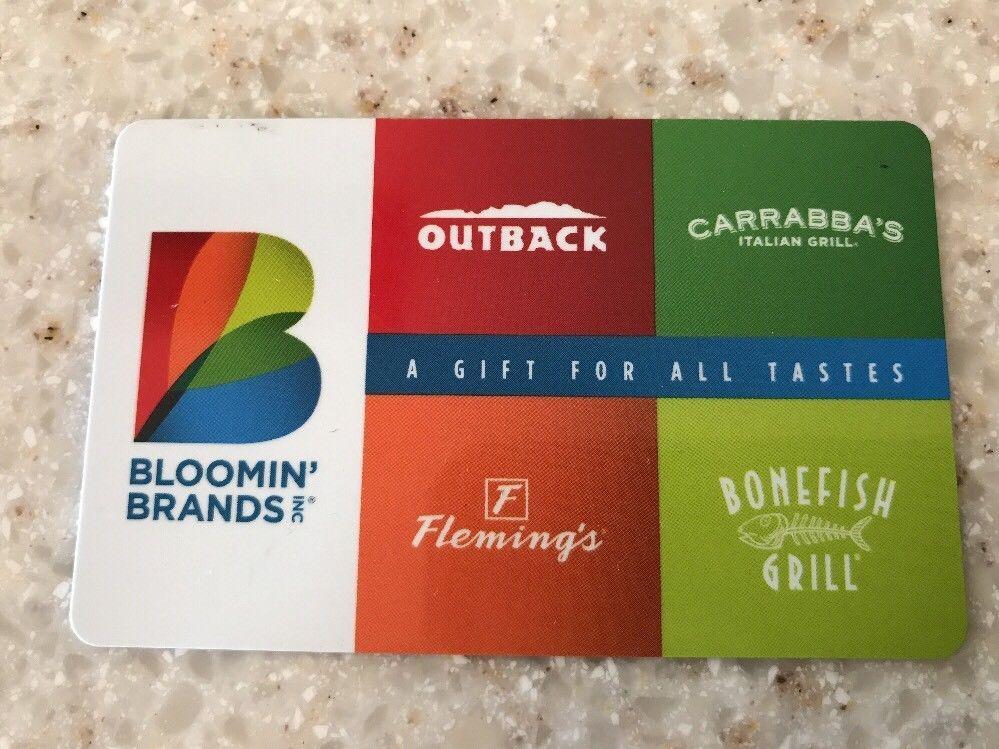 20 outback flemings carrabbas bonefish restaurant gift