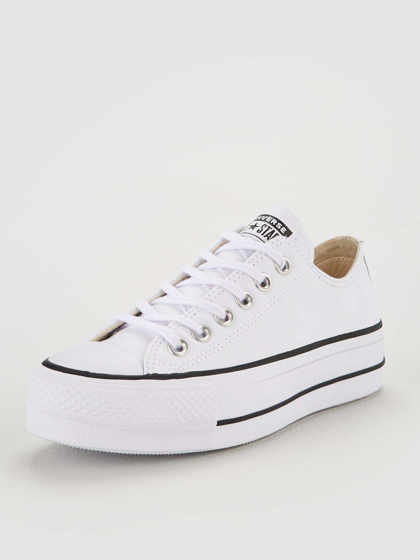 Chuck Taylor All Star Platform Lift Clean Leather Ox White